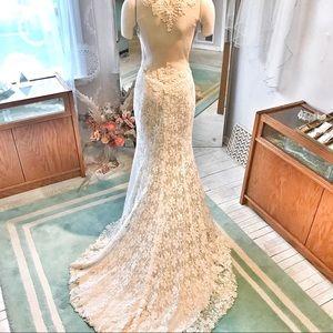 Illusion back SOFT COMFY Lace Wedding 👗